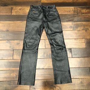 Women's size 26 diesel black leather pants